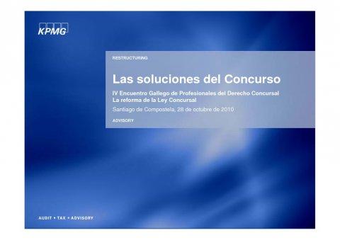 Presentación Angel Martín Torres, Economista. Socio directore responsable de Reestructuring de KPMG Asesores - IV Encontro Galego de Profesionais do dereito concursal